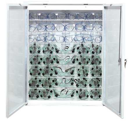 Eyewear Germicidal Cabinet,  White