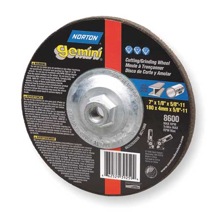 Depressed Ctr Wheel, T27, 4.5x0.045x5/8-11