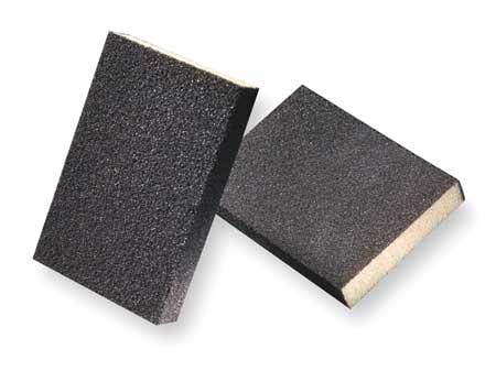Sanding Sponge, Fin, 4x2-3/4x1/2 In