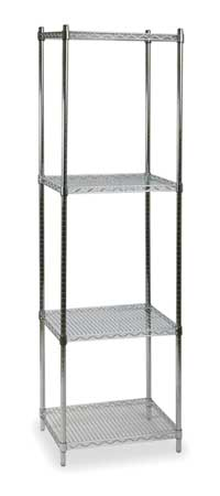 Shelving, Starter, H 85, W 36, D 18, Chrome