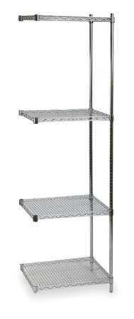 Shelving, Add-On, H 85, W 36, D 18, Chrome