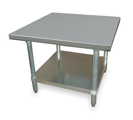 "Fixed Work Table, SS, 30"" W, 30"" D"