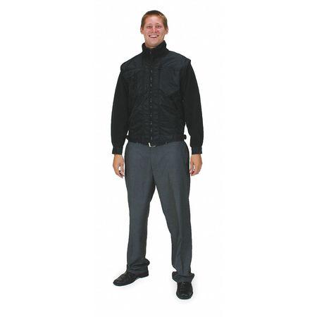 Fleece Jacket, Poly/Nylon, Black, L