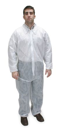 Polypropylene Protective Clothing,  Collared Coverall