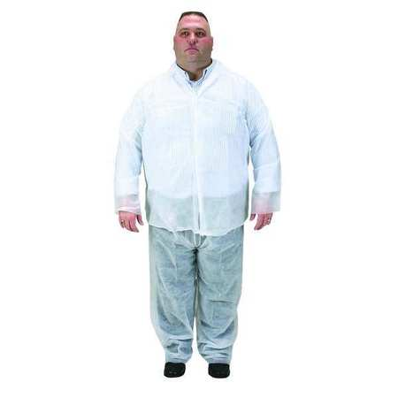 Disposable Collared Shirt, White, 2XL, PK25