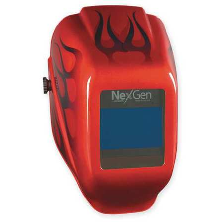 Welding Helmet, Shade 9 to 13, Red
