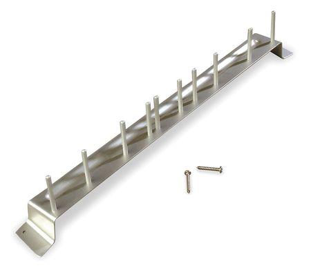 Aluminum Brush Rack,  Holds 10 Brushes