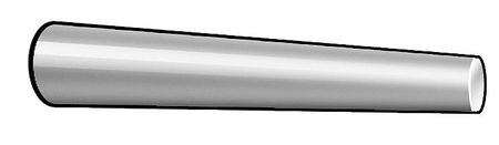 Taper Pin, Std, 18-8, #7x 1 In L, PK5