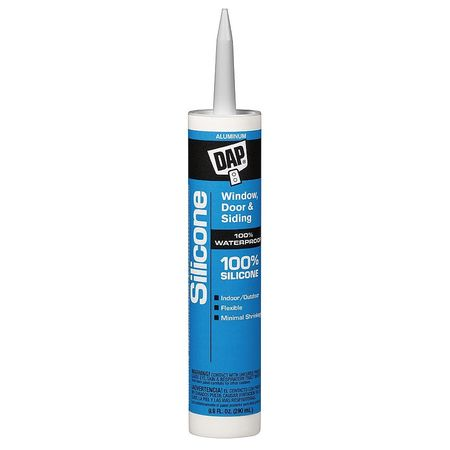Rubber Sealant, 9.8 oz, Aluminum