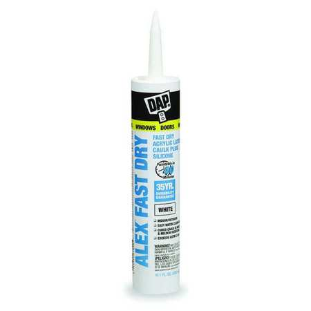 Caulks and Sealants- ALEX Fast-Dry- Acrylic Latex Caulk Plus Silicone