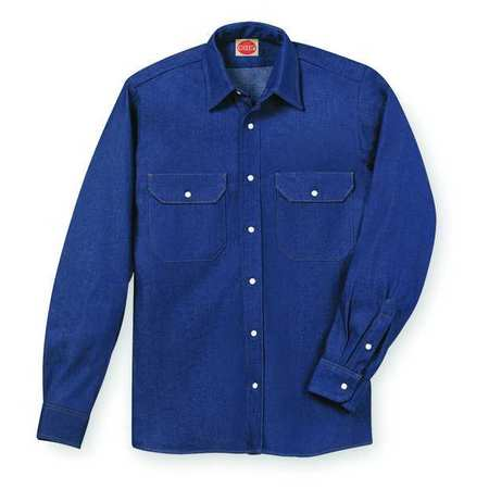 Lng Slv Wstrn , Blu Denim, 100 perCtn, 2XL