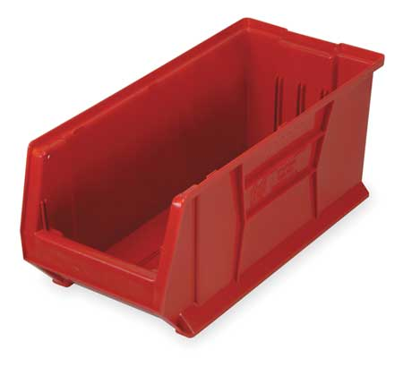 Bin, 29-7/8 In. L, 11 In. W, 10 In. H, Red