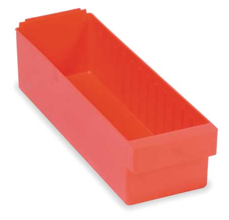 Drawer Bin, 23-7/8 x 5-9/16 x 4-5/8In, Red