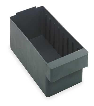 Drawer Bin, 23-7/8x5-9/16x4-5/8 In, Gray