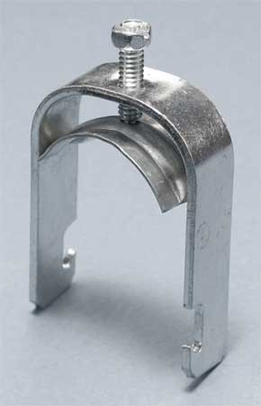Conduit Clamp, 1/2 In EMT, Silver
