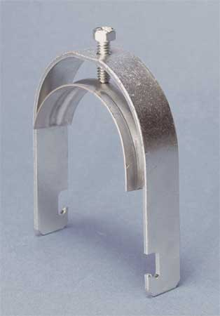 Conduit Clamp, 2-1/2 In EMT, Silver