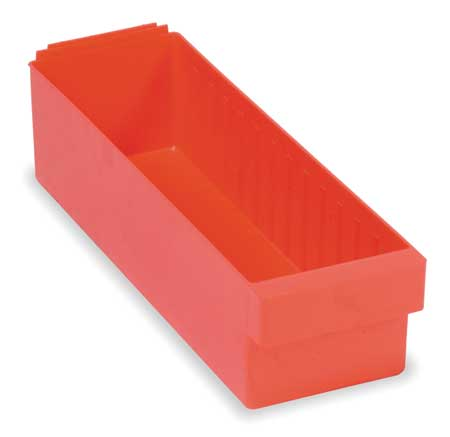 Drawer Bin, 17-5/8 x 5-9/16 x 4-5/8In, Red