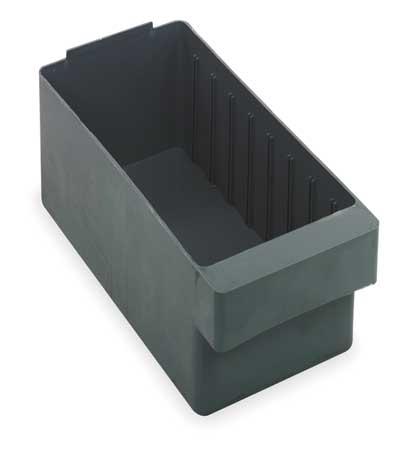Drawer Bin, 17-5/8x5-9/16x4-5/8 In, Gray