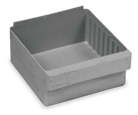 Drawer Bin, 11-5/8x11-1/8x4-5/8 In, Gray