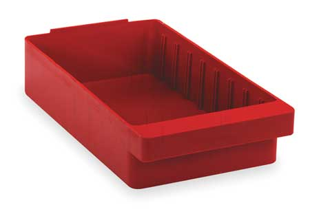 Drawer Bin, 11-5/8 x 11-1/8 x 4-5/8In, Red