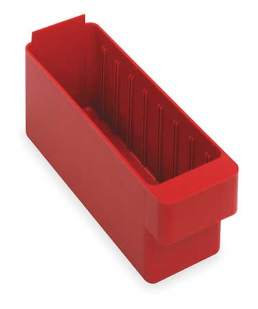 Drawer Bin, 17-5/8 x 3-3/4 x 4-5/8 In, Red
