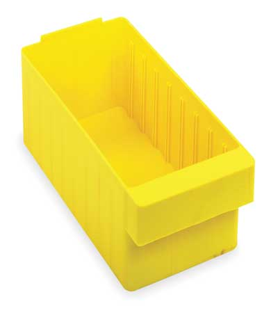 Drawer Bin, 17-5/8x5-9/16x4-5/8 In, Yellow