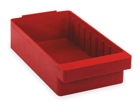 Drawer Bin, 11-5/8 x 5-9/16 x 2-5/8In, Red