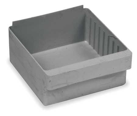 Drawer Bin, 11-5/8 x 8-3/8 x 4-5/8In, Gray