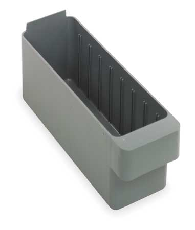 Drawer Bin, 11-5/8 x 3-3/4 x 4-5/8In, Gray
