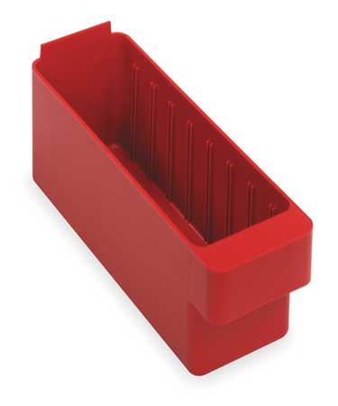 Drawer Bin, 11-5/8 x 3-3/4 x 4-5/8 In, Red