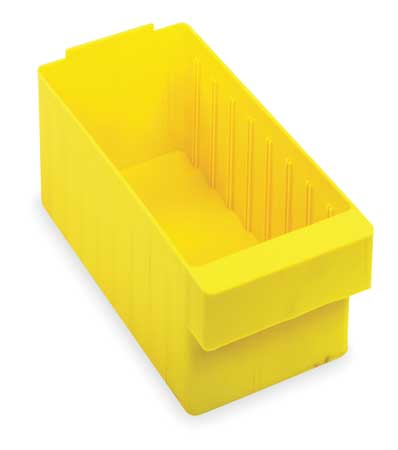 Drawer Bin, 11-5/8x5-9/16x4-5/8 In, Yellow