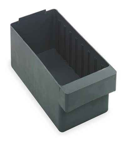 Drawer Bin, 11-5/8x5-9/16x4-5/8 In, Gray