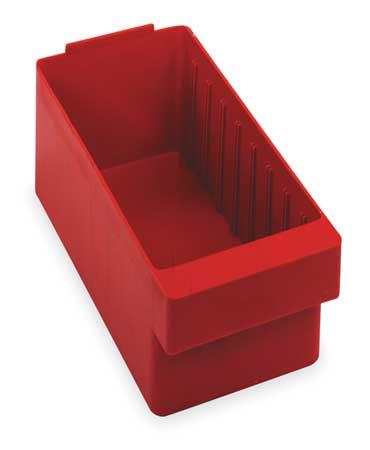 Drawer Bin, 11-5/8 x 5-9/16 x 4-5/8In, Red