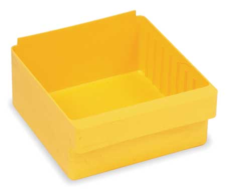Drawer Bin, 11-5/8x8-3/8x4-5/8 In, Yellow