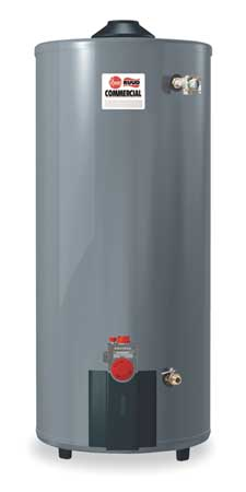 NG Commercial Gas Water Heater 100 gal.,  120VAC,  76000 BtuH