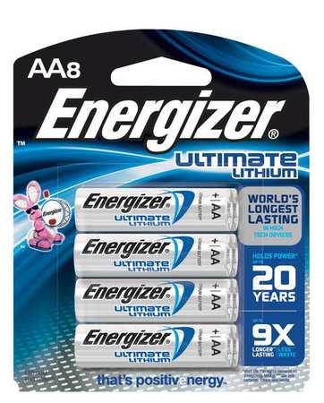 Standard Battery, AA, Lithium, PK8