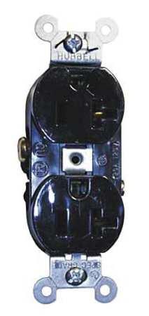 20A Duplex Receptacle 125VAC 5-20R BK