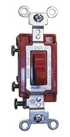 Wall Switch, 4-Way, 120/277V, 20A, Red, Toggl