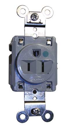15A Single Receptacle 125VAC 5-15R GY