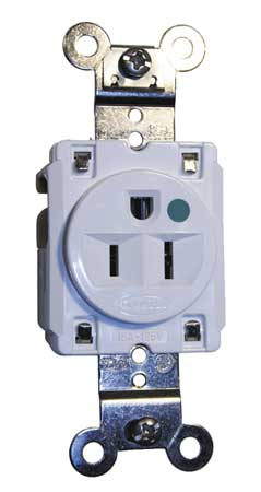 15A Single Receptacle 125VAC 5-15R WH