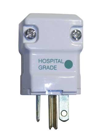 3 Wire Straight Blade Plug Hospital Grade 250VAC 20A