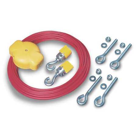 Cable Kit, PVC Covered Steel, 16 ft. L