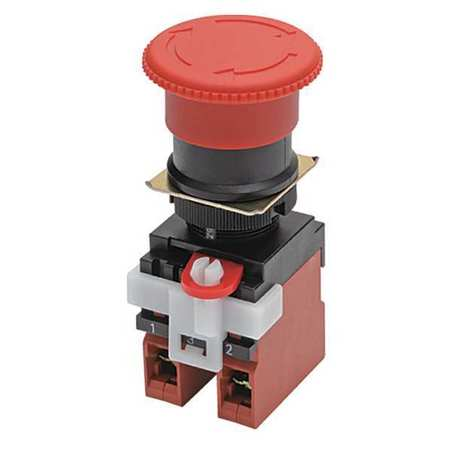E-Stop Push Button, 22mm, NO/NC, Red
