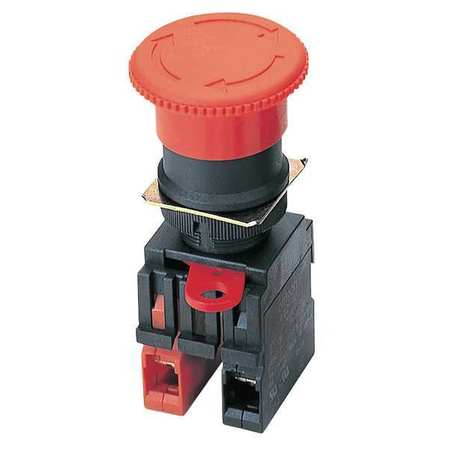 E-Stop Push Button, Illum, 22mm, NC, Red