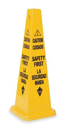 Safety Cone,  Caution Safety First, Eng/Sp