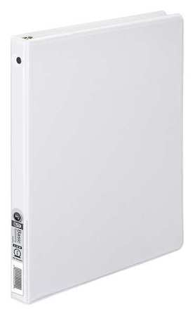 "1/2"" Round Ring Basic Binder,  White"