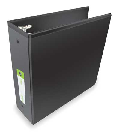 "3"" Round Ring Basic Binder,  Black"