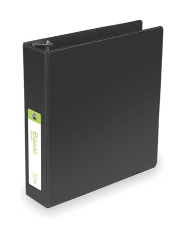 Basic Binder, D-Ring, 2in, Black