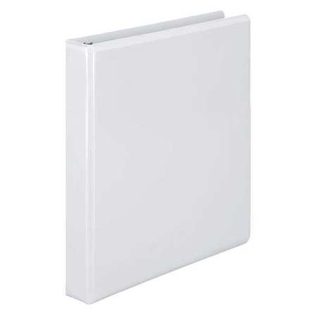 Basic Binder, View, D-Ring, 1in, White