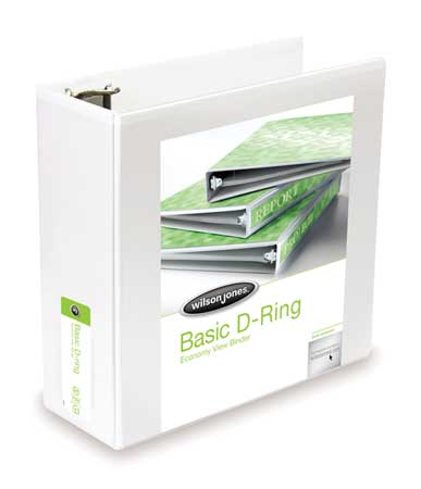 Basic Binder, ViewD-Ring, 4in, White